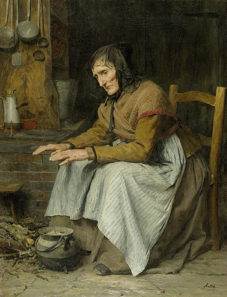 Albert Anchor. Grandmother sitting by the hearth