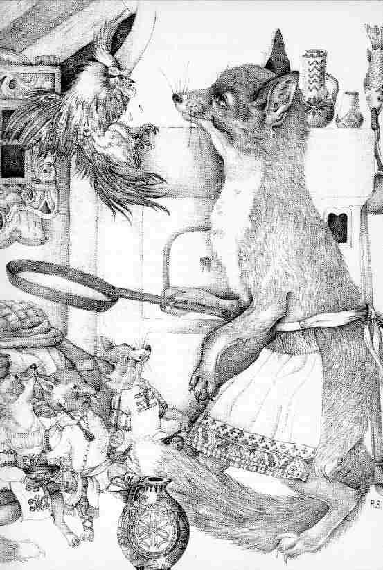 Адриенн Сегур. Кот, петух и лиса 03