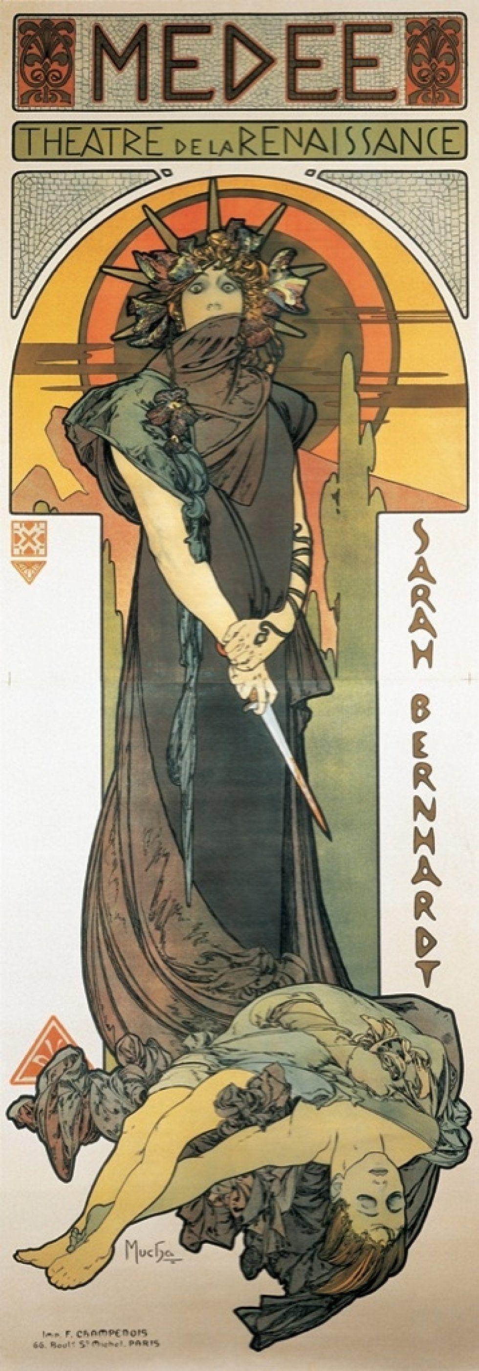 Alfons Mucha. Medea