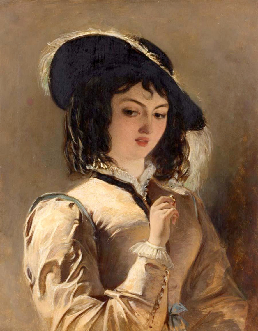Beehives Powell Fright Great Britain 1819-1909. Portrait of a lady. Private collection
