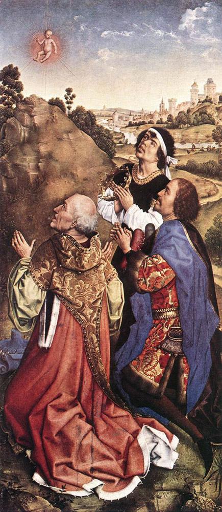 Rogier van der Weyden. Midlarsky the altar. Fragment