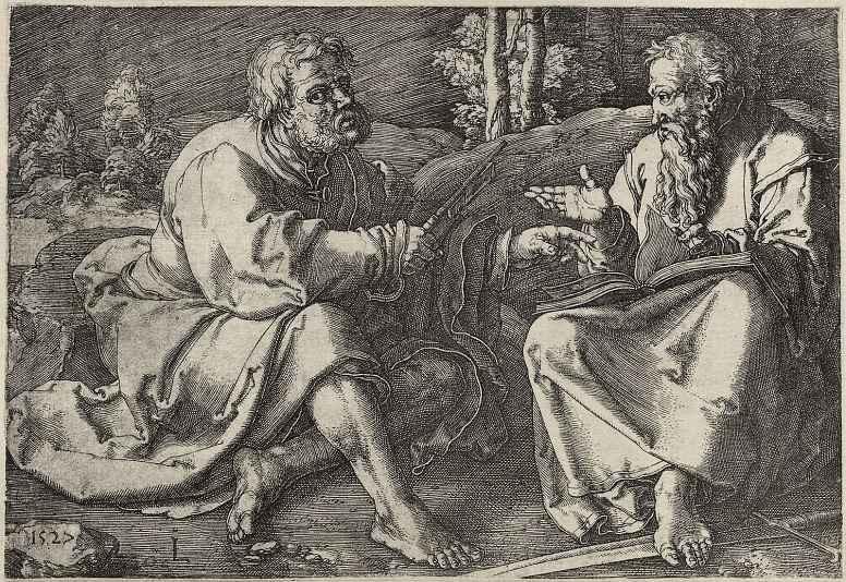 Лукас ван Лейден (Лука Лейденский). Святые Петр и Павел