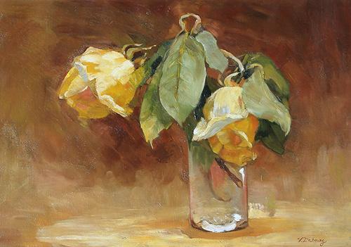 Victoria Duburg (Fantin-Latour). Yellow roses