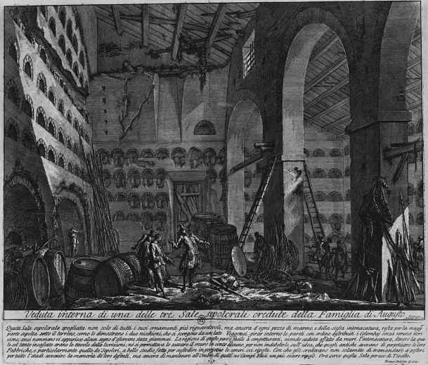 Джованни Баттиста Пиранези. Внутренний вид одной из трёх гробниц рода Августов