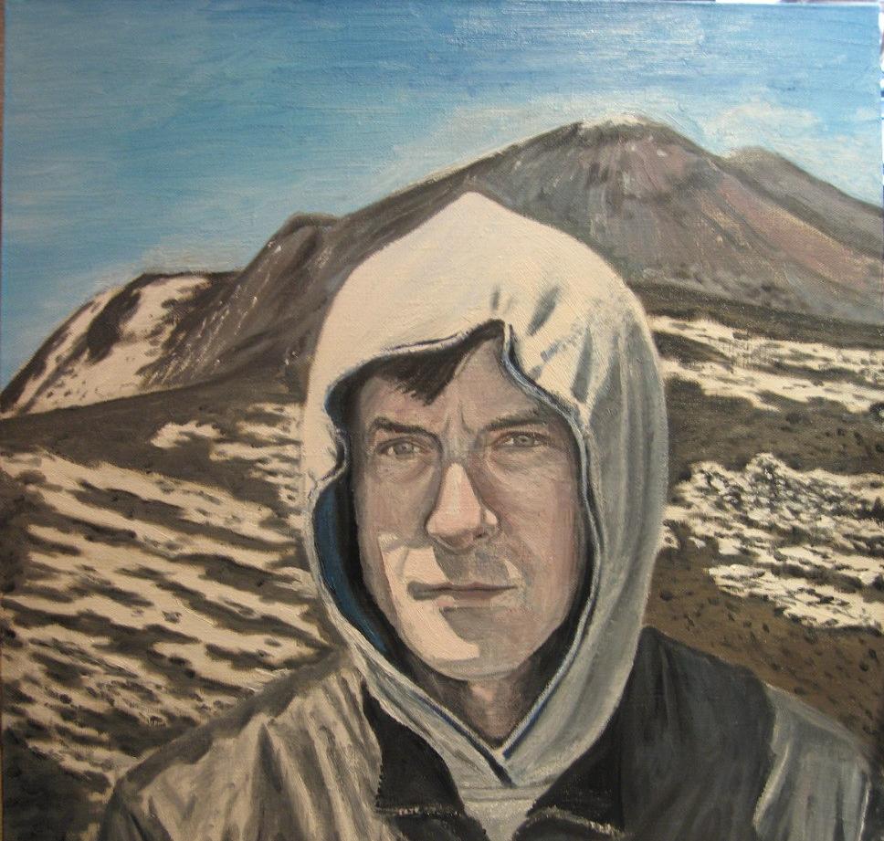 Semyon Yurievich Bryatov. Self-portrait on Etna