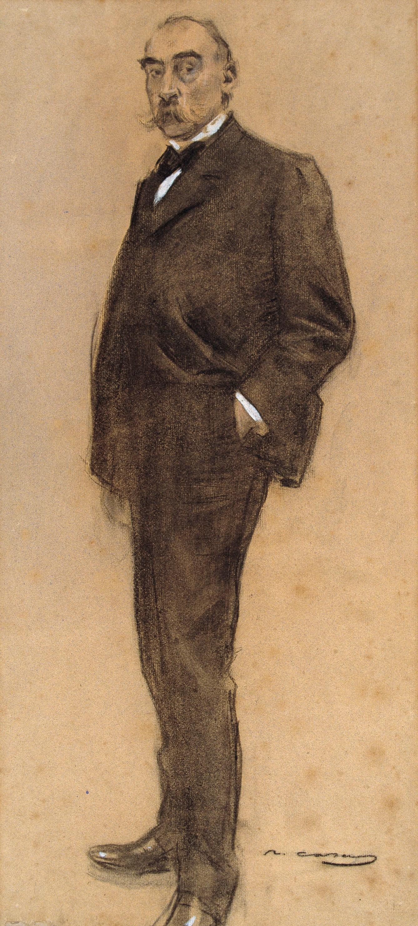 Ramon Casas i Carbó. Portrait of Josep Masriyer