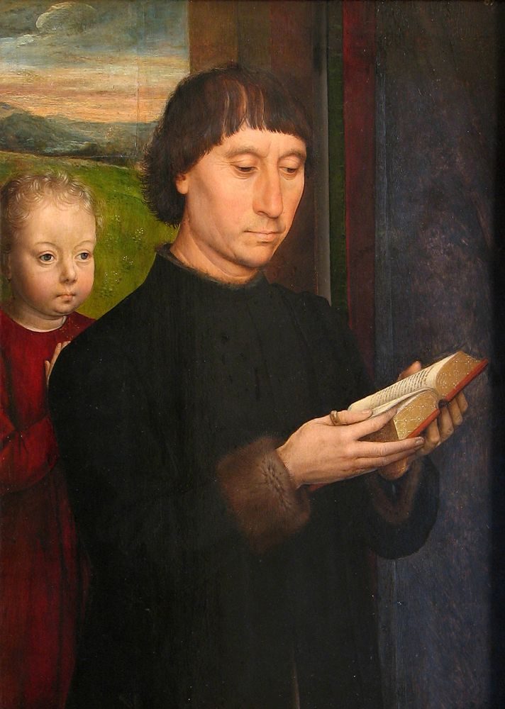 Hans Memling. Portrait of the donor,