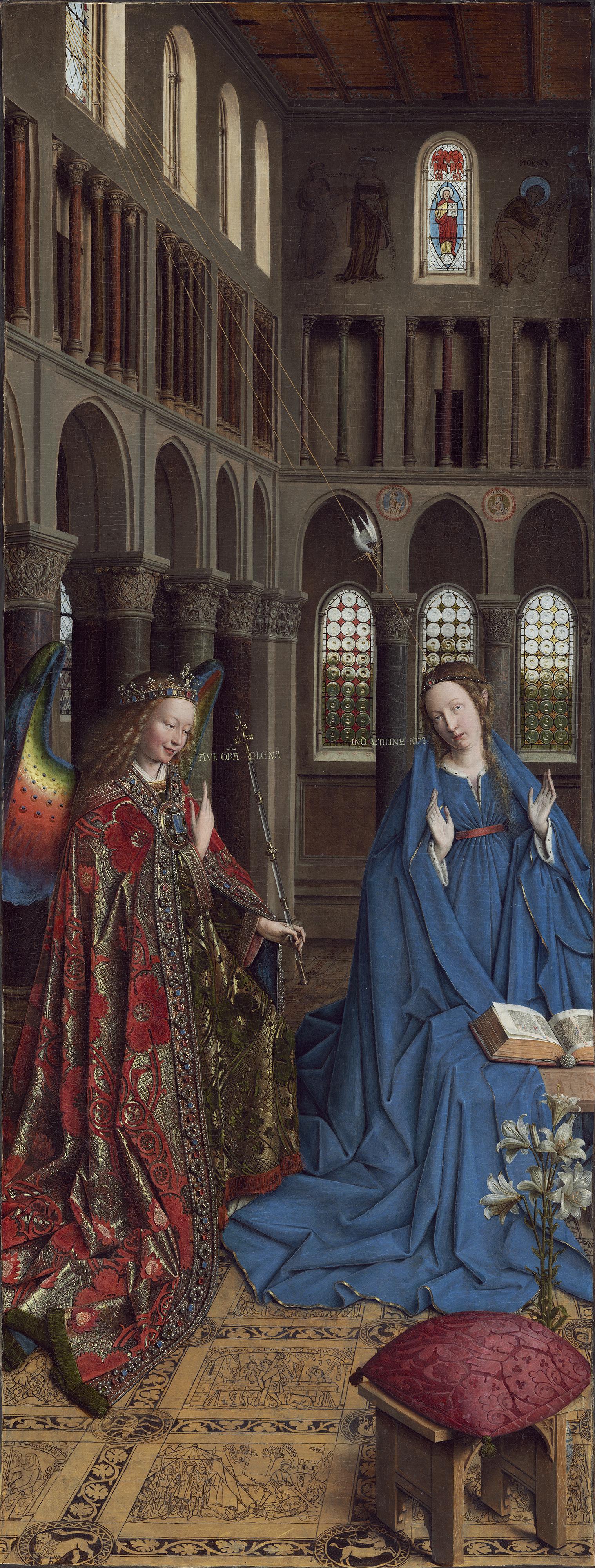 Jan van Eyck. The Annunciation
