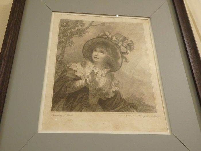 Engraving Bartolozzi Francesco (England). Exhibition the shores of CHILDHOOD from the Funds BGHM
