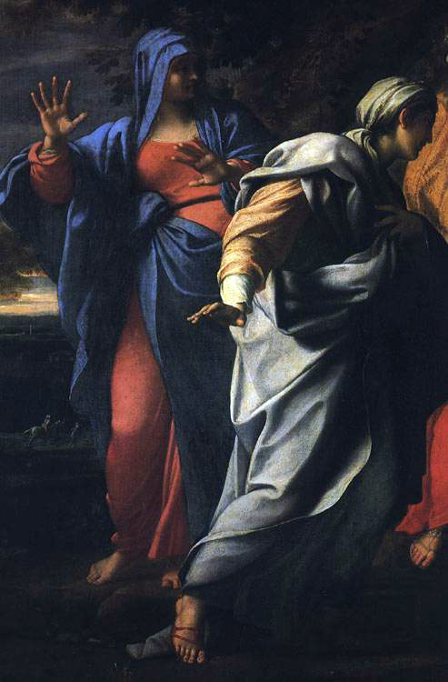 Annibale Carracci. Holy women at the tomb of Christ [detail]