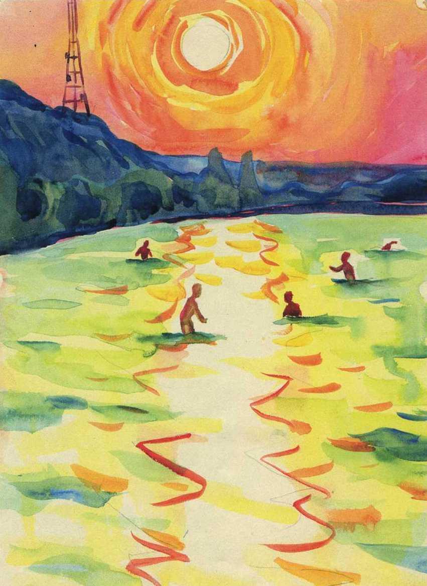 Eugene Nikolaevich Tkachenko. Sunset on the water