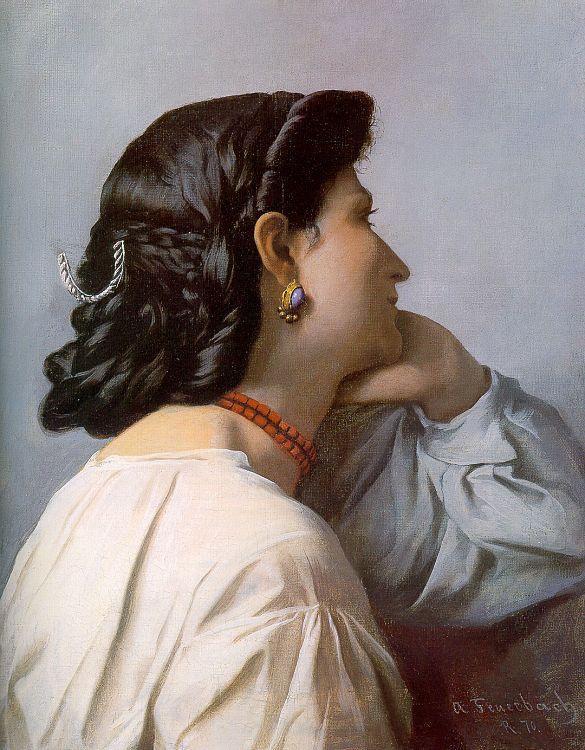 Ансельм Фридрих Фейербах. Профиль женщины