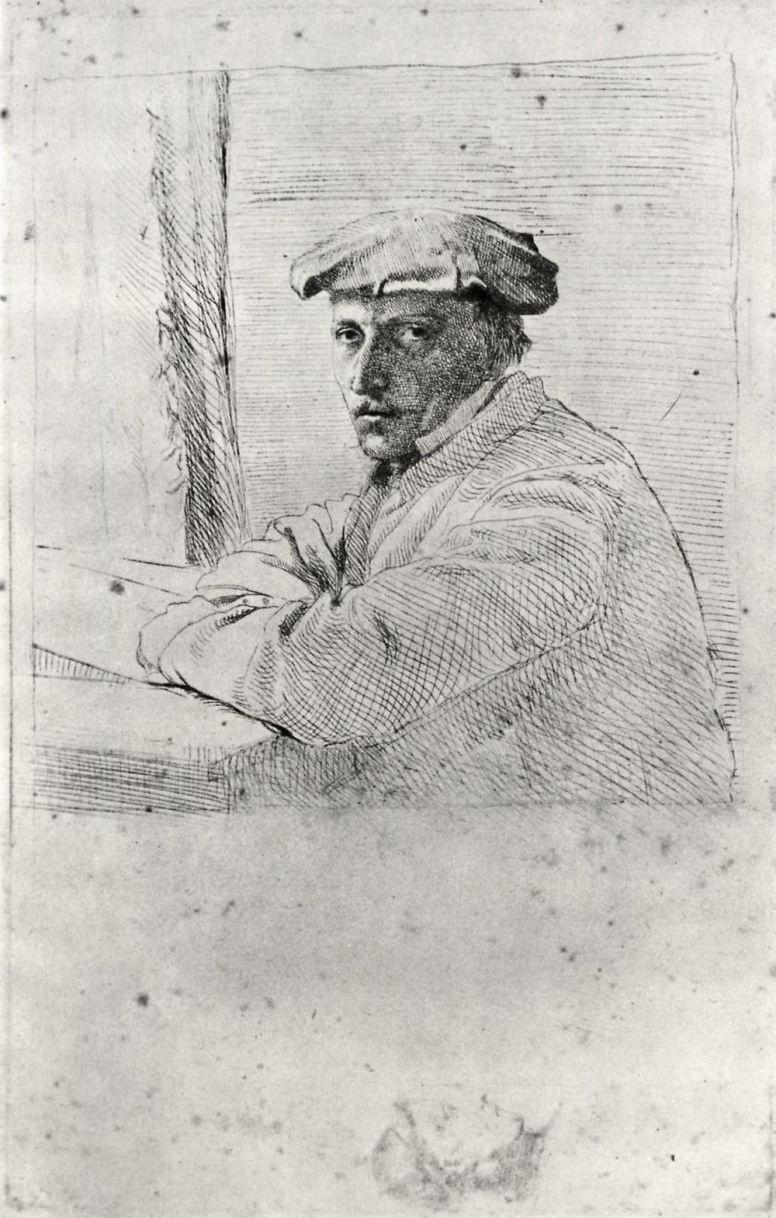 Edgar Degas. Portrait of the engraver Joseph Tourny