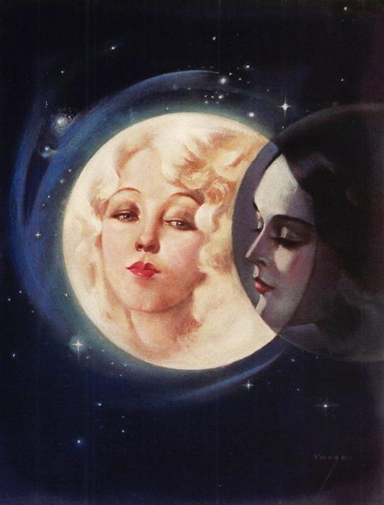 Alberto Vargas. Moonlight Eclipse