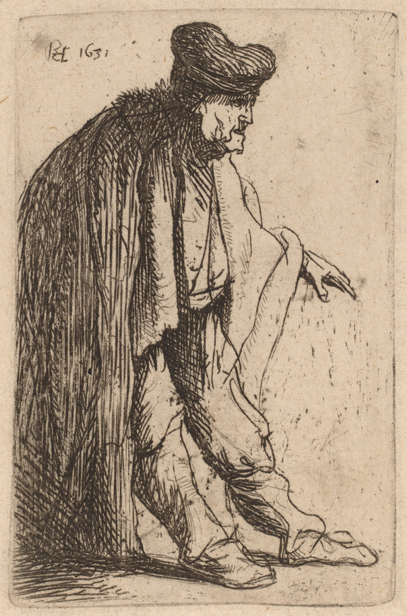 Rembrandt Harmenszoon van Rijn. Beggar with His Left Hand Extended