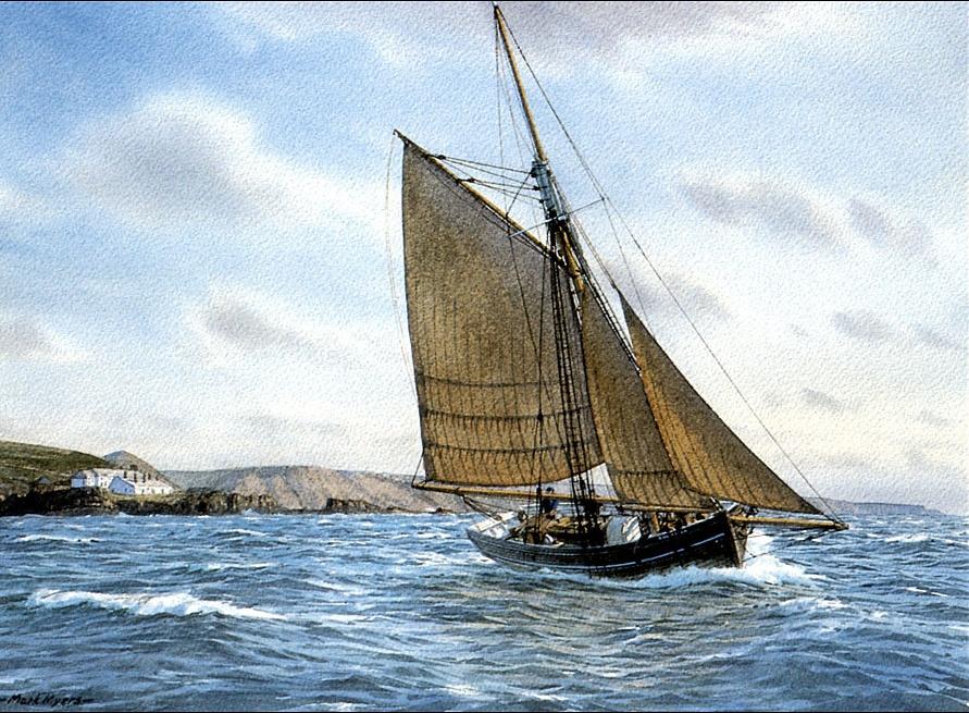 Марк Майерс. Парусное судно 18