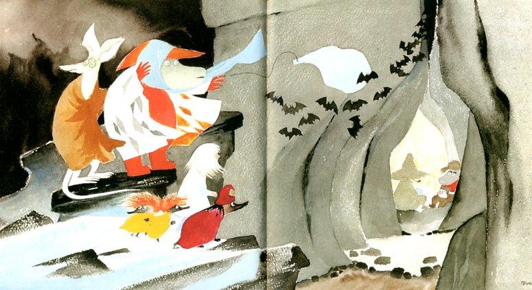 """Туве Янссон. Иллюстрация для книги """"Опасное путешествие"""""""