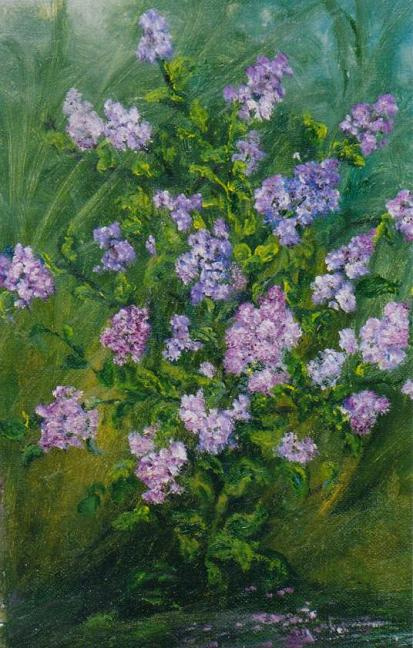 """Rita Arkadievna Beckman. """"The pale lilacs were nailed to the ground by rain ..."""" (A. Blok)"""