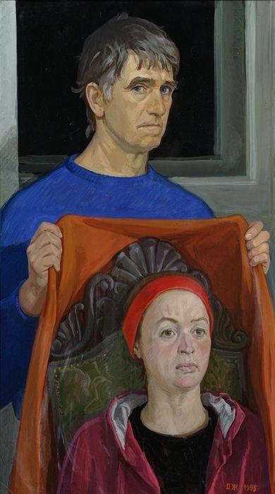 Дмитрий Дмитриевич Жилинский. Автопортрет с Ниной