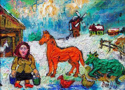 Давид Давидович Бурлюк. Зима
