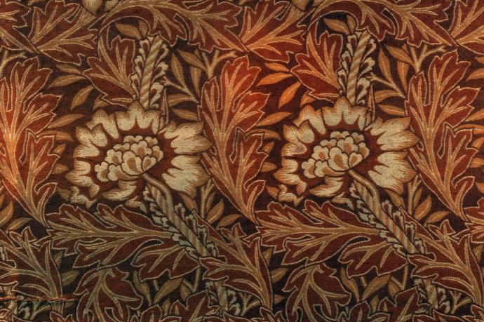 Уильям Моррис. Шелковый анемон (Дамаск). Фрагмент