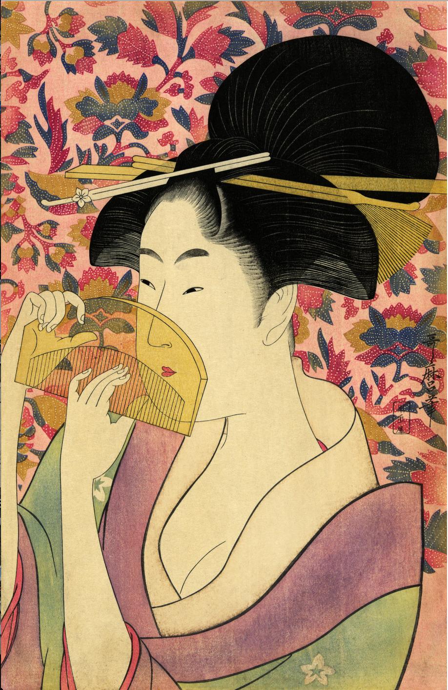Kitagawa Utamaro. Comb