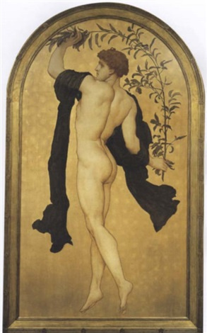 Frederic Leighton. A dancing athlete with an olive branch