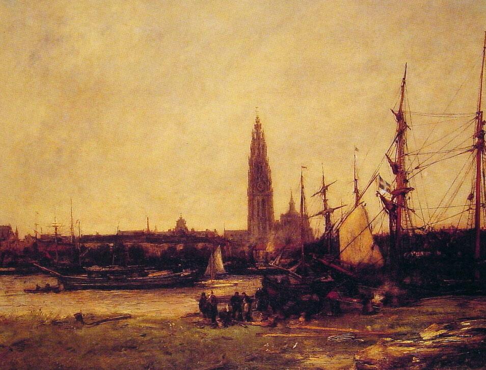 Антуан Воллон. Вид Антверпена