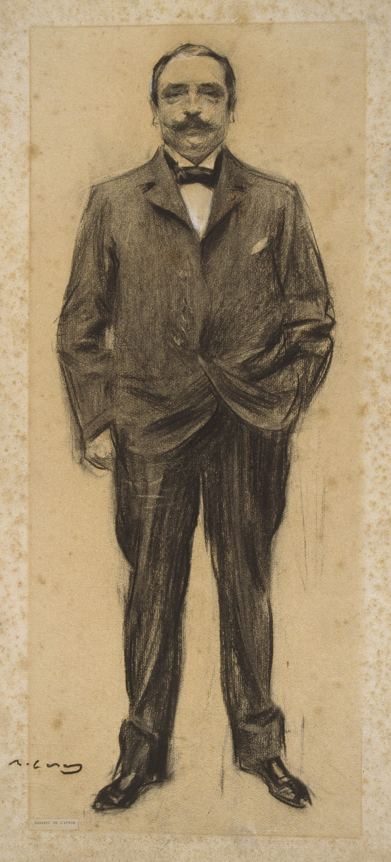Ramon Casas i Carbó. Portrait of Jean-Antoine Inzhalber