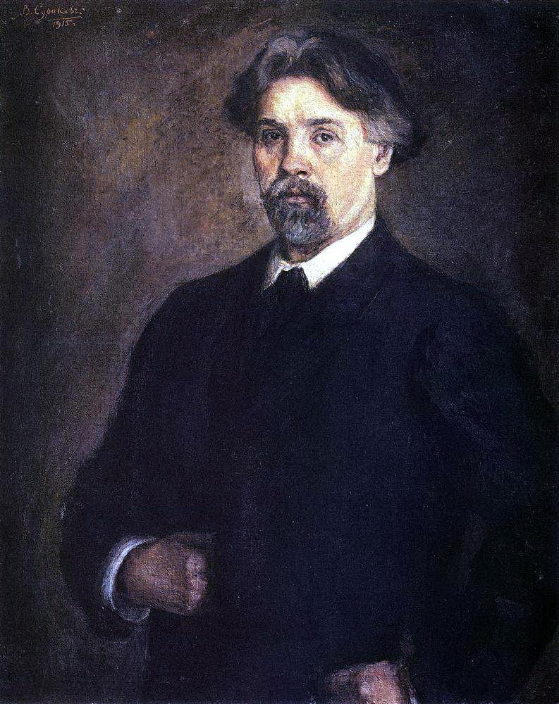 Василий Иванович Суриков. Автопортрет