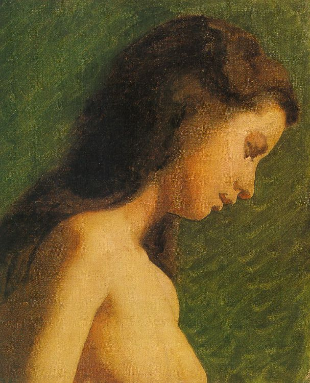 Thomas Eakins. Head of a young woman. Sketch