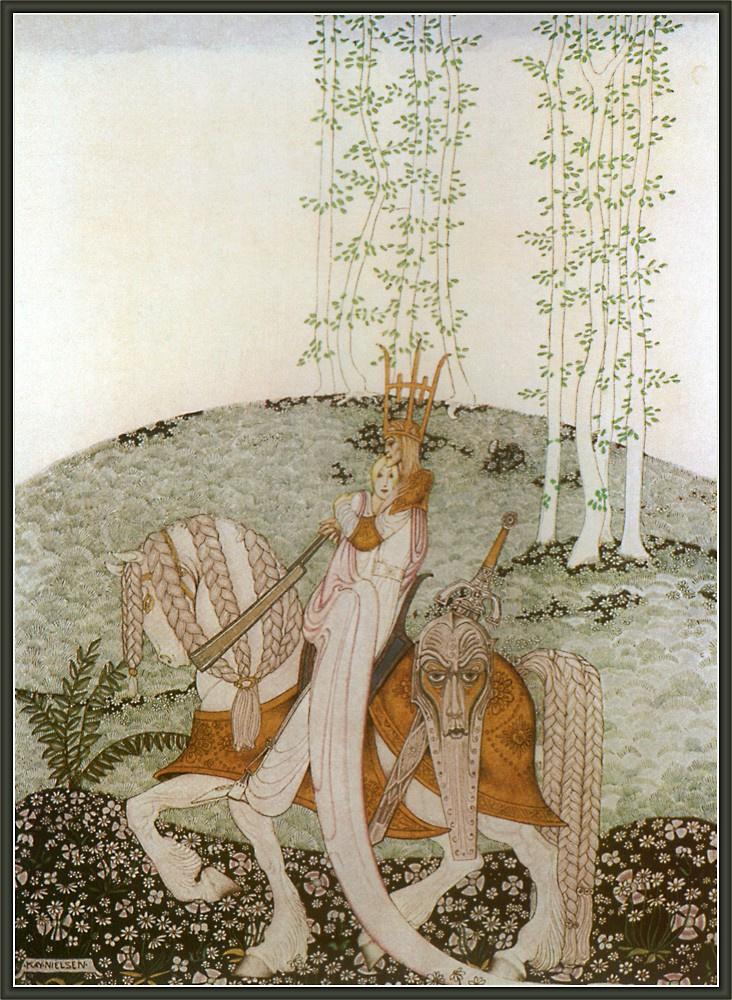 Кей Нильсен. Иллюстрация к  сказке  На восток от солнца, на запад от луны 14