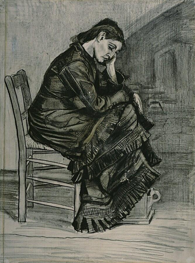 Винсент Ван Гог. Сидящая женщина