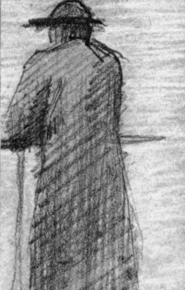 Georges Seurat. Leaning on the railing