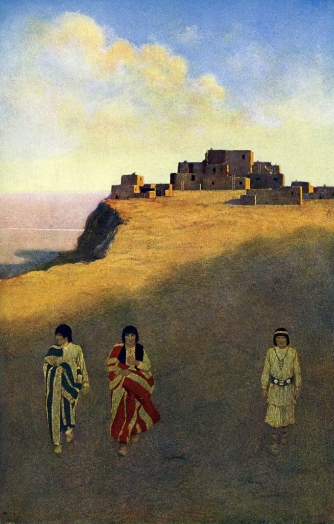 Максфилд Пэрриш. Жители Пуэбло из племени Навахо
