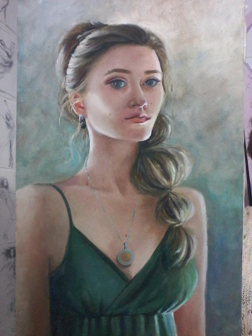 Olga Suncheleeva. Self-portrait