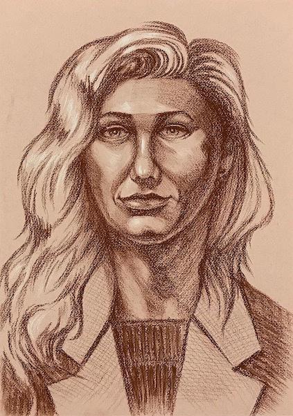 Larissa Lukaneva. Портрет натурщицы. Скетч.