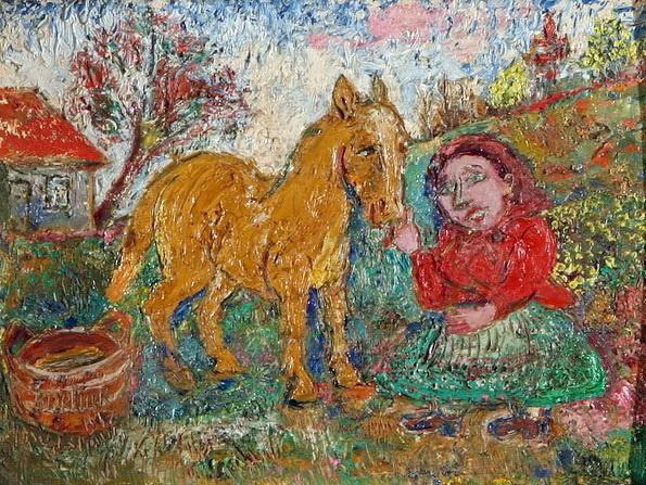 Давид Давидович Бурлюк. Женщина с конем