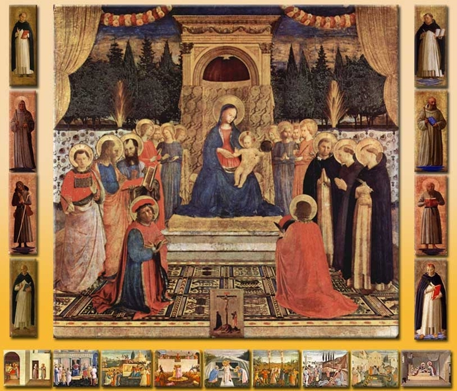 Fra Beato Angelico. Altar of Saints Cosmas and Damian of the Monastery of San Marco in Florence