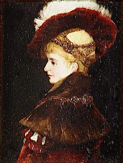 Ганс Макарт. Портрет женщины в торжественном костюме