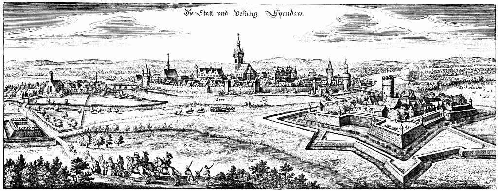 Маттеус Мериан Старший. Берлин-Шпандау, вид с юго-востока