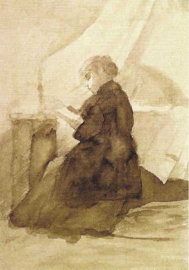 Мария Константиновна Башкирцева. Woman with a book