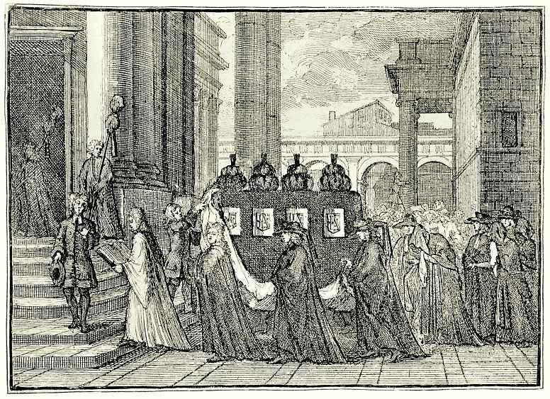 William Hogarth. Invitation to a funeral