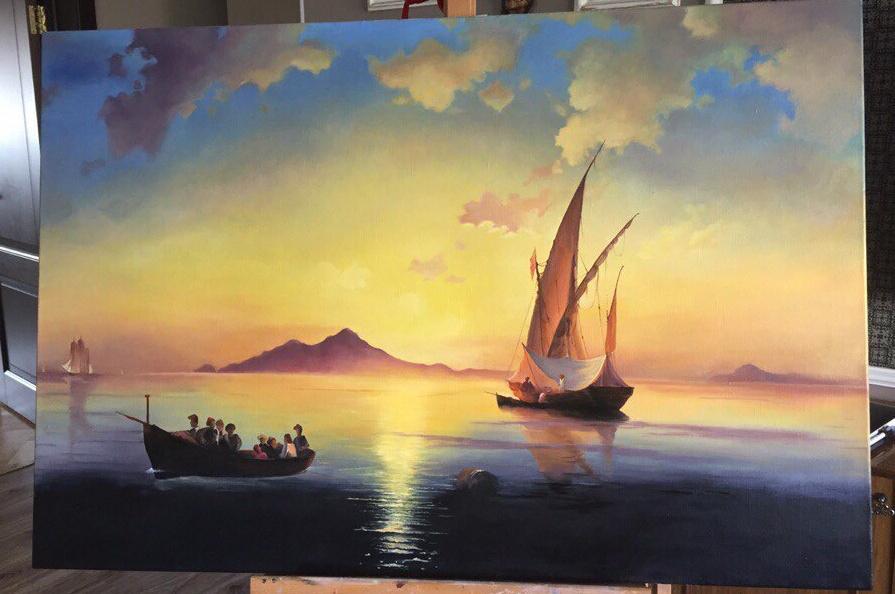 Anastasia Alekhine. Gulf of Naples copy