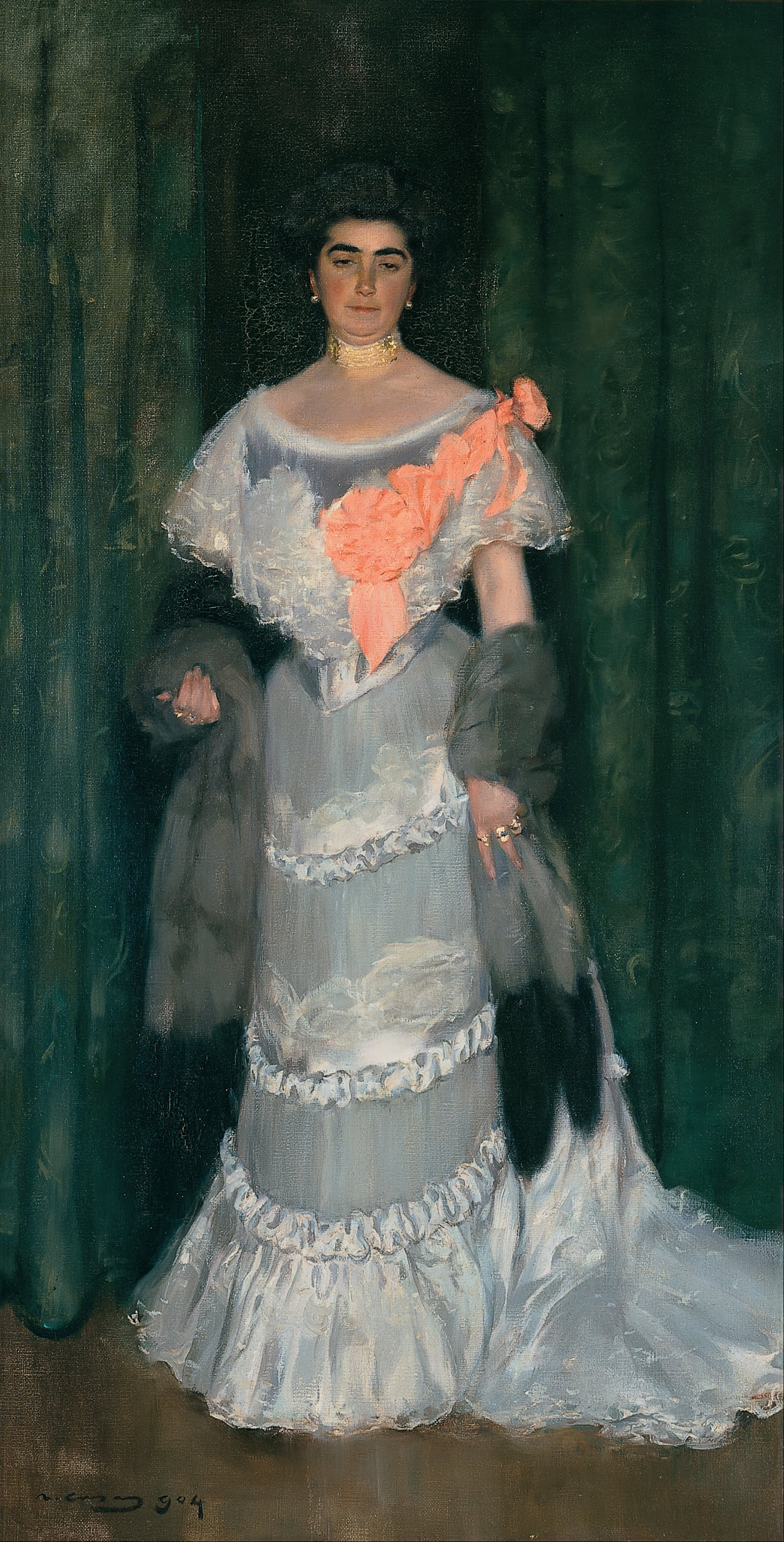 Ramon Casas i Carbó. Portrait of Montserrat Casas de Nieto in an Evening Dress