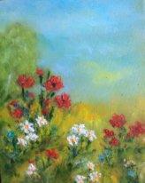 """Rita Arkadievna Beckman. """"Do not give me flowers dear, give me a bouquet of field ..."""""""
