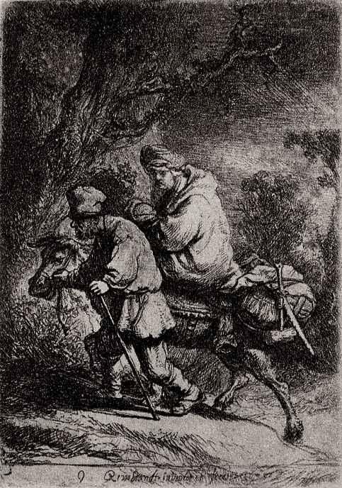 """Рембрандт Харменс ван Рейн. Так называемое """"Малое бегство в Египет"""""""