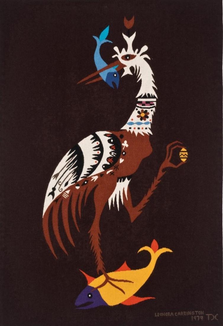 Leonora Carrington. Bird with fish