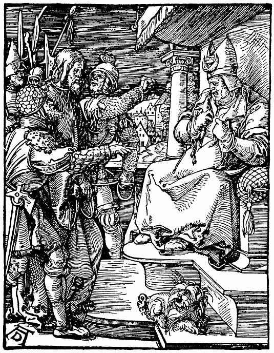 Альбрехт Дюрер. Христос перед Анной