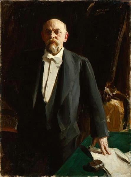 Anders Zorn. Portrait of Savva Mamontov